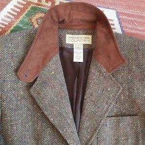 Vintage Jackets & Coats - Vintage Equestrian Chic Tweed Blazer